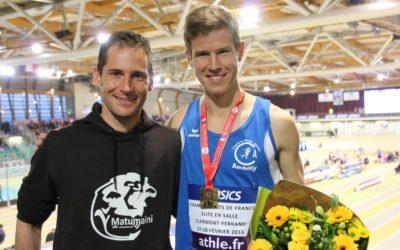Champion de France du 3000m en salle !